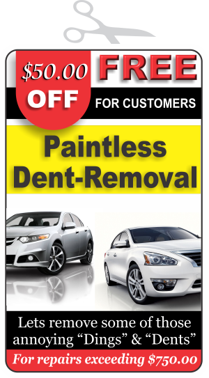 Discount – Paintless Dent Removal
