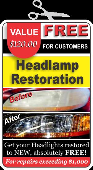 FREE Headlamp Restoration